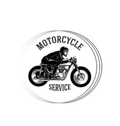 motorcycle service man riding motorcycle circle fr vector image