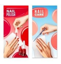 Nail Care Polish 2 Banners Set vector