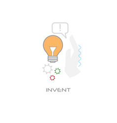 new idea inspiration light lamp creative business vector image