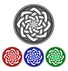 Octagon logo template in celtic knots style vector