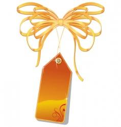 orange tag vector image
