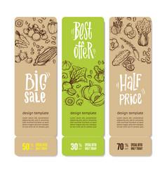 organic market kit banners vector image