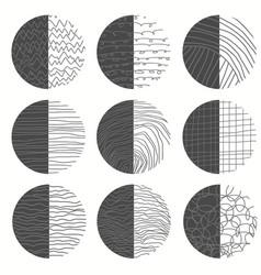 paint brush set hand drawn doodle shapes vector image