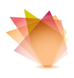 Pastel shard vector image vector image