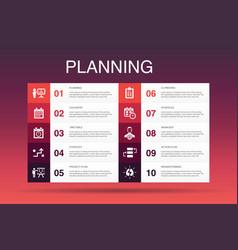 Planning infographic 10 option templatecalendar vector