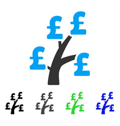 Pound money tree flat icon vector