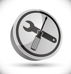 Repair icon with wrench and screwdriver vector