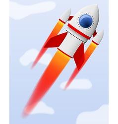 rocket 4 vector image