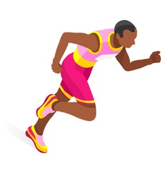 Running 2016 Sports 3D Isometric vector image
