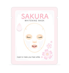 Sakura whitening mask vector