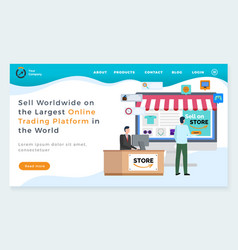 Sell worldwide with largest trading platform web vector