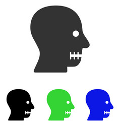 Sewn mouth flat icon vector