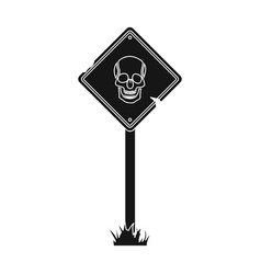 sign single icon in black stylesign vector image