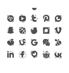 Social media well-crafted pixel perfect vector