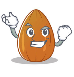 Successful almond nut character cartoon vector