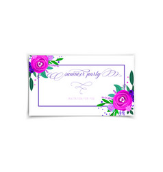 summer sale banners decorate with flowers vector image