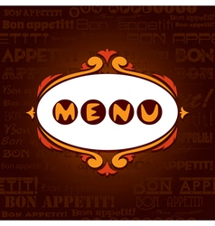Template menu for restaurant cafe bare vector image