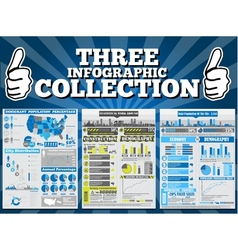 THREE INFOGRAPHIC COLLECTION SPECIAL EDITION vector