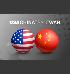 trade war between china and usa vector image