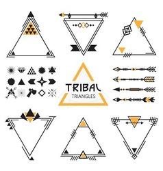 Trianfle icon set vector image