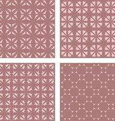Vintage seamless pattern background set vector
