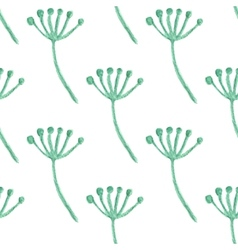Watercolor painted floral seamless pattern vector