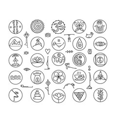 yoga icons for your design vector image