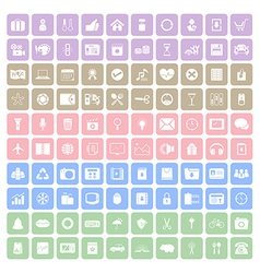 100 Square icon vector image vector image