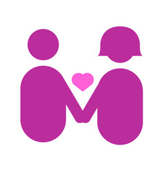 couple holding hands abstract love graphic vector image