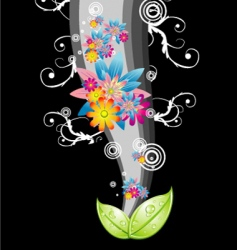 flower abstract background vector image