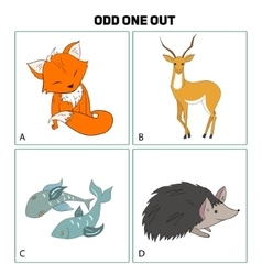 Odd one out child game vector