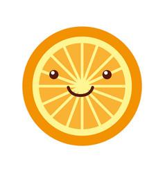 orange tropical and exotic fruit kawaii character vector image vector image
