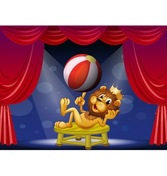 A lion king performing on stage vector image vector image