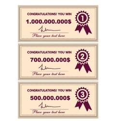 Award certificates vector image