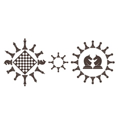 Chess pieces Symbols and icons vector image