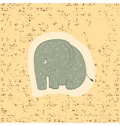 Children print Funny elephant vector image vector image