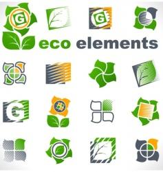 design elements eco vector image vector image