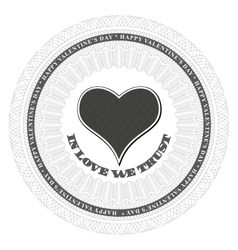 Guilloche valentines heart vector image