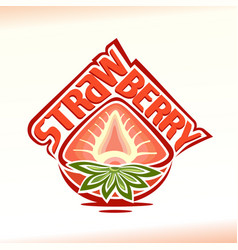 half strawberry vector image vector image