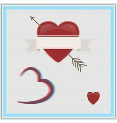 Happy Valentines Day 3D vector image vector image