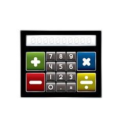 Modern calculator vector image