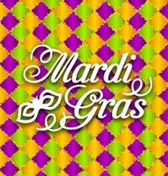 Pattern Background with Ornamental Text for Mardi vector image vector image