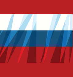 russian flag state symbol vector image