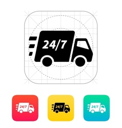Delivery support seven days a week icon vector image vector image