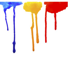 drops of paint flowing vector image