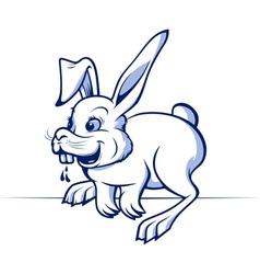 funny cartoon rabbit vector image
