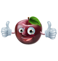 happy apple man vector image vector image
