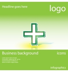 Medical cross business background vector image