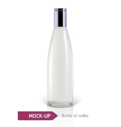 Mockup vodka bottle vector image vector image