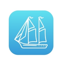 Sailboat line icon vector image vector image